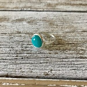 Boho Freeform Faceted Amazonite Stackable Ring